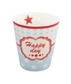 Blå mugg Happy Day